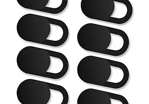 iVoler 8er Set Webcam Abdeckung, Slider Camera Cover Ultra dünne Webcam Cover Privacy-Schutz Kamera Abdeckung für MacBook, iPad, iPhone, Laptop, PC, Smartphones, Tablets, etc. – Schwarz
