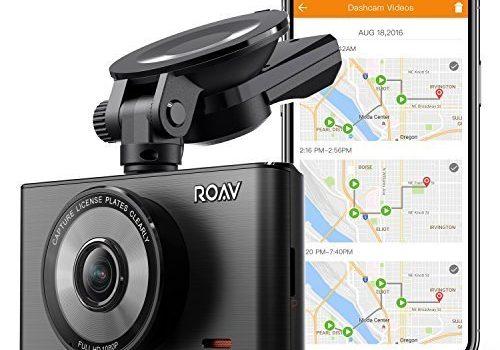 Roav DashCam C2 Pro, mit FHD 1080p Auflösung, Weitwinkelobjektiv für 4 Spuren, App, 32GB microSD Speicherkarte inklusive