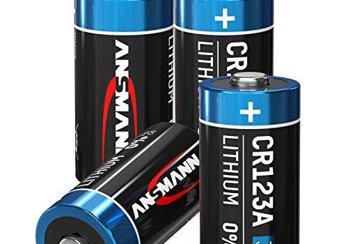 ANSMANN CR123A 3V Lithium Batterie – Einwegbatterie – 8er Pack CR123 Batterien geeignet für Kameras, Alarmanlagen, Taschenlampen und mehr