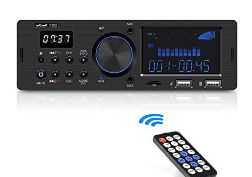 ieGeek Bluetooth Autoradio, RDS/MP4/FM/AM/SD/AUX/USB Funktion mit doppelt drehenden Lautstärketasten, Mit Bluetooth Freisprecheinrichtung …