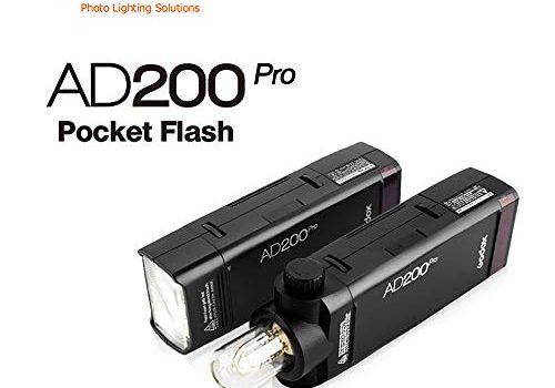 Godox Ad200pro Outdoor Flash Stobe 2,4 G TTL Speedlite Blitzlicht HSS Monolight mit 2900 mAh Lithium-Batterie 200WS und bloßem Glühlampen-Blitzkopf, um 500 Blitzlichter abzudecken