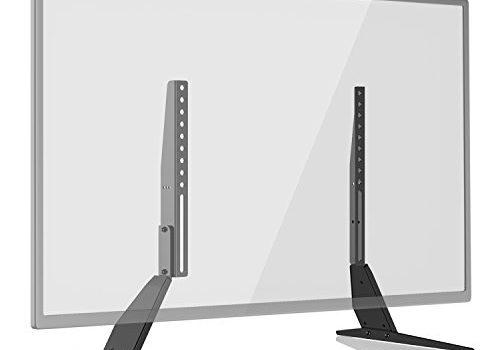 5mm Metallplattenhalterung – 1home Universal TV Ständer für LCD LED 23-42 Zoll Fernseher bis zu 50 KG Max.VESA 400x300mm Tisch Standfuß TV Halterung Höhenverstellbar