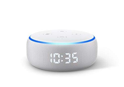 Der neue Echo Dot 3.Gen. – smarter Lautsprecher mit Uhr und Alexa, Sandstein Stoff