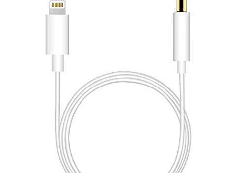 Beyeah Auto AUX Kabel, Aux Kabel auf 3,5mm Premium-Audio Kabel für Auto Stereo/Kopfhörer/Lautsprecher System/Home/Auto-Stereoanlagen für iPhone XS/XS Max/X/8/8 Plus/7/7Plus / iPod/iPad Weiß