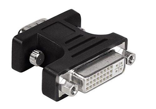 DVI Adapter VGA Stecker auf DVI Buchse, geschirmt, Kompaktadapter schwarz – Hama VGA