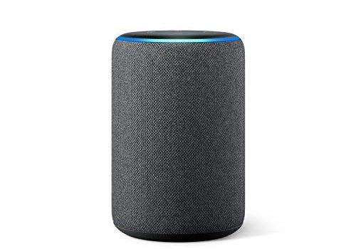 Der neue Amazon Echo 3. Generation, smarter Lautsprecher mit Alexa, Anthrazit Stoff