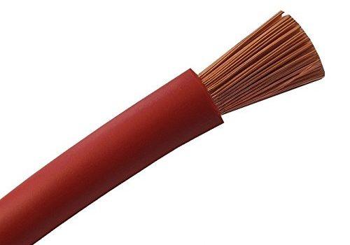 Schnitt – KFZ Batterie Kabel 100% OFC Kupfer – 6mm2-10mm2-16mm2-25mm2-35mm2 + 50mm2 – 35 oder 50 mm² – Batteriekabel Aderleitung ROT H07V-K 6-10 – Meterware nach Ihren Wünschen – 16-25
