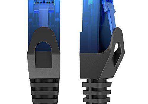 KabelDirekt – 3m – Netzwerkkabel, Ethernet, Lan & Patch Kabel überträgt maximale Glasfaser Geschwindigkeit & ist geeignet für Gigabit Netzwerke, Switches, Router, Modems mit RJ45 Eingang, blau