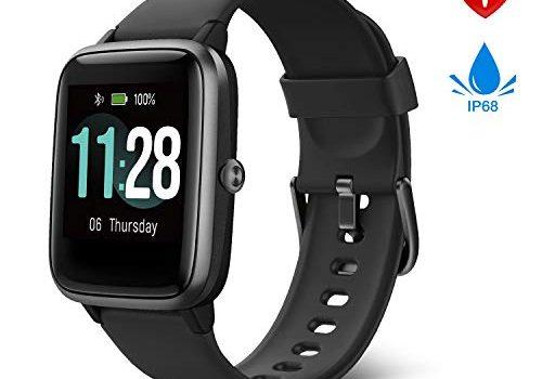 Fitpolo Smartwatch Herren, Fitness Armband Voll Touchscreen 5ATM Wasserdicht,Schrittzähler Uhr mit GPS, Pulsmesser,Musiksteuerung, Smartwatch Damen Kinder, Fitness Uhr für iPhone Samsung 2019 Neuste