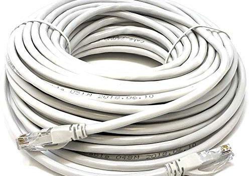 Mr. Tronic 30m Ethernet Netzwerk Netzwerkkabel | Patchkabel | CAT5e, AWG24, CCA, UTP, RJ45 | Grau 30 Meter