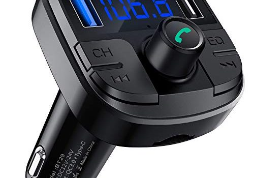 Clydek Bluetooth 5.0 Auto-FM-Transmitter, drahloser Audio-Transmitter, Adapter Car Kit mit QC3.0 und Schnellladung Typ C, Autoradio-Audio-Adapter, MP3-Player-Unterstützung, Freisprecheinrichtung