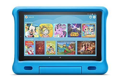 Das neue Fire HD 10 Kids Edition-Tablet   10,1 Zoll, 1080p Full HD-Display, 32 GB, blaue kindgerechte Hülle