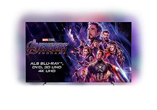 Philips Ambilight 55OLED804 139 cm 55 Zoll Oled TV 4K UHD, HDR10+, Android TV, Dolby Vision, Google Assistant, Alexa kompatibel