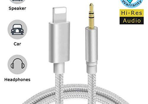 Aux Kabel Auto Handy 1M Auto Aux Kabel für iPhone 8 Audio Kabel Klinke auf 3,5mm Kompatibel mit iPhone X/XR / 8 Plus/ 7/7 Plus Link zu KFZ Stereoanlagen & Kopfhörer & Echo Dot & MP3 Player -Silber