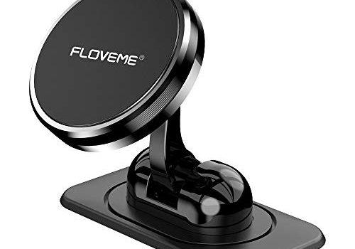 FLOVEME Handyhalterung-Auto-Magnet Armaturenbrett, Magnetische Handyhalter-fürs-Auto mit Klebrige Basis, Einstellbar KFZ Handy Halterung Kompatibel für iPhone 11 Pro XS XR X 8 7 Samsung Huawei usw