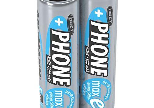 Akkus ideal für DECT Telefon schnurlos – ANSMANN Akku AA Mignon 1300 mAh 1,2V NiMH für Schnurlostelefon 2 Stück – Wiederaufladbare Batterien mit geringer Selbstentladung maxE – Rechargeable Battery