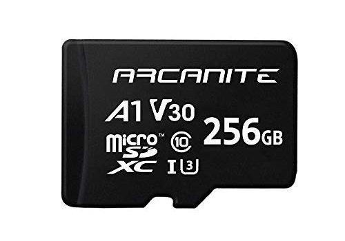 UHS-I U3, A1, V30, 4K, C10, microSD – AKV30A1256 – ARCANITE 256 GB microSDXC-Speicherkarte mit Adapter