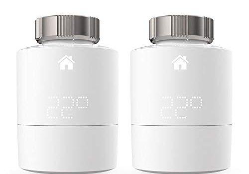 Tado Smartes Heizkörper-Thermostat Duo Pack, Zusatzprodukte für Einzelraumsteuerung, intelligente Heizungssteuerung