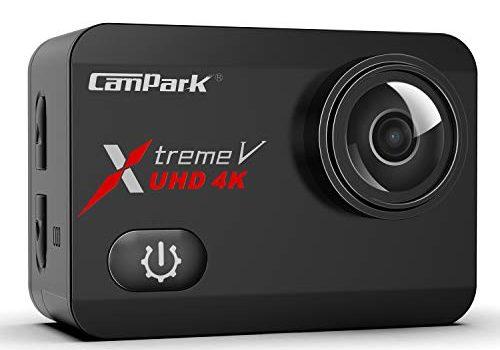 Campark X30 Action Cam Echte 4K/60fps 20MP Unterwasserkamera 40m Touchscreen Anti-Shaking WiFi 170 ° Weitwinkel Verstellbar 2 Akku 1350mAh und Zubehöre Kompatibel mit gopro