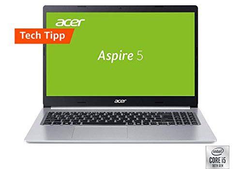 Acer Aspire 5 A515-54G-56XE 39,6 cm 15,6 Zoll Full-HD IPS matt Multimedia Laptop Intel Core i5-10210U, 8 GB RAM, 512 GB PCIe SSD, NVIDIA GeForce MX250, Win 10 Home silber