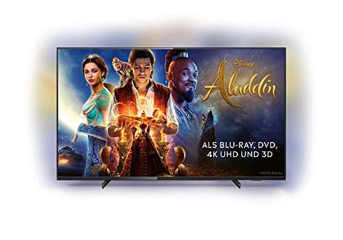 Philips Ambilight 50PUS6704/12 Fernseher 126 cm 50 Zoll LED Smart TV 4K UHD, HDR 10+, Dolby Vision, Dolby Atmos, Smart TV Schwarz