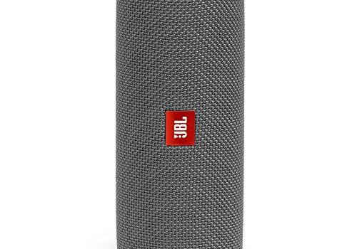 JBL Flip 5 Bluetooth Box Wasserdichter, portabler Lautsprecher mit umwerfendem Sound, bis zu 12 Stunden kabellos Musik abspielen grau