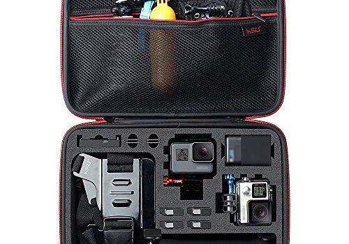Neuer Tasche Case für GoPro Hero 8 2018/7/6/5/4/3+ und Zubehör, mit Tragegriff und Karabiner Loop – HSU Schutztasche Tragetasche Große