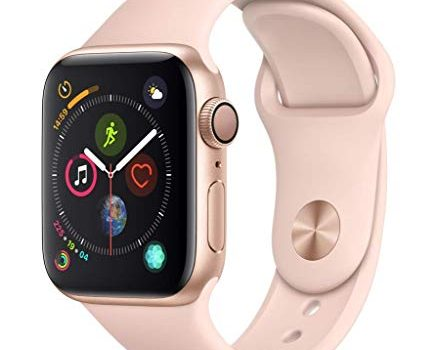 Apple Watch Series 4 GPS, 40mm Aluminiumgehäuse Gold – Sportarmband Sandrosa
