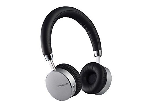 Pioneer SE-MJ561BTS Bluetooth On-Ear Kopfhörer Mikrofon/Freisprechfunktion, NFC, 15 Stunden Wiedergabe, hoher Tragekomfort, für Smartphone, Tablet, MP3 Player, Aluminium Design, Silber