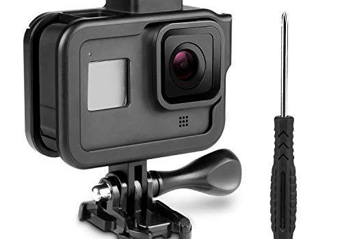 Rahmen Schutzgehäuse Gehäuse Case für GoPro Hero 8 Black Action Kamera, iTrunk Aluminiumlegierungs Schutzhülle mit Schnellverschluss Gehäuse Zubehör-Kit für GoPro Hero 8