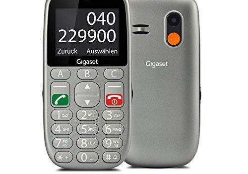 Gigaset GL390 GSM Handy ohne Vertrag für Senioren mit SOS-Funktion, Komfortable Ausstattung, Farbdisplay 2,2 Zoll, Mobiltelefon mit extra großen Einzeltasten zur einfachen Bedienung titan-silber