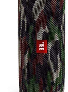 JBL Flip 5 Bluetooth Box Wasserdichter, portabler Lautsprecher mit umwerfendem Sound, bis zu 12 Stunden kabellos Musik abspielen camouflage
