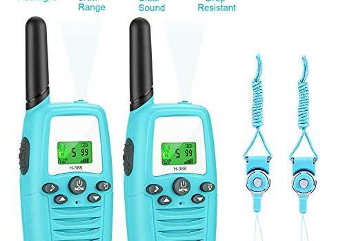 Gifort Walkie Talkies 3KM Reichweite Radio mit Taschenlampe und LCD Bildschirm Vox-Funktion Walki Talki