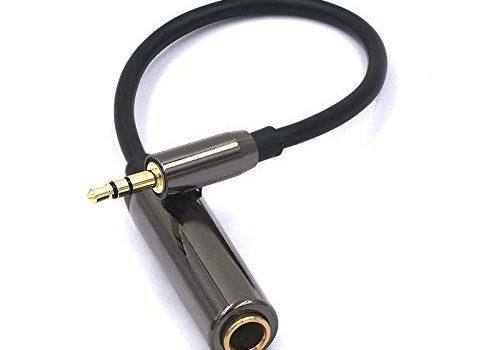 VCE Kopfhörer Adapter 3.5mm Klinkestecker auf 6.35mm Klinkenbuchse Klinkenkabel Stereo 6.35 auf 3.5 Klinke Adapterkabel HQ