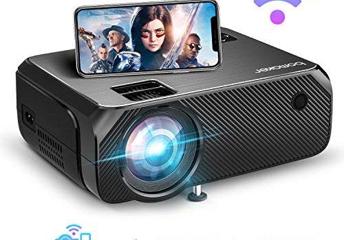 """BOMAKER WiFi Beamer 4800 Lumen Wireless Projektor Unterstützt 1080P Full HD Native 720p Max. 250"""" Display Mini LED Beamer kompatibel mit iPhone/Android Smart Phone/iPad/Mac/Laptop/PC"""