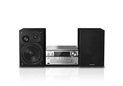 Panasonic SC-PMX94EG-S Micro HiFi System 120 W RMS, Digital DAB+, CD, UKW , Bluetooth, USB, AUX silber