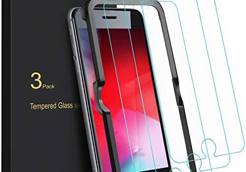 Blukar Panzerglas für iPhone 8/iPhone 7 Schutzfolie, 3 Stück Panzerglasfolie Mit Positionierhilfe, 9H-Härte, Anti-Bläschen, Anti-Kratzen für iPhone 8/7/6/6s