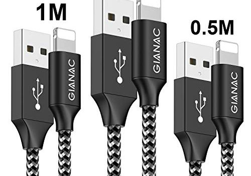 QGhappy USB Phone Ladekabel, 3Stück 0,5M 1M 2M Nylongeflecht Schnellladekabel and Datenkabel für Phone 11/11Pro/11Pro MAX/X/XS MAX/XR/8/8 plus/7/7 plus/6s/6s plus/6/6 plus/SE/5C/5S