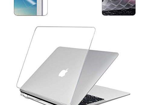 i-Buy Harte Schutzhülle Hülle kompatibel für Apple MacBook Pro 16 Zoll mit Touch Bar Modell A2141,2019 Release + Schutzfolie + TPU Tastaturschutz – Kristall Klar