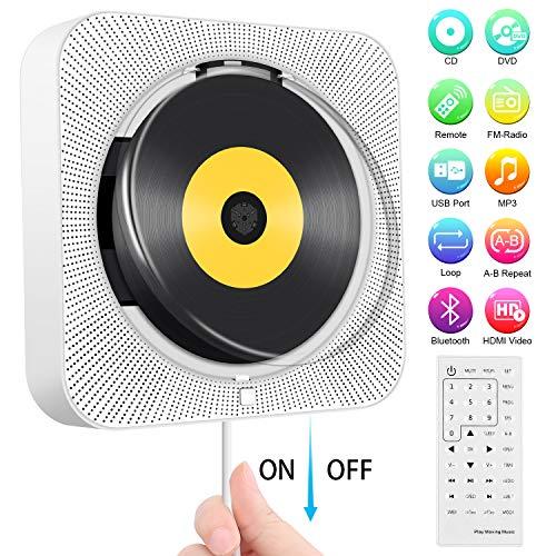 tragbarer dvd cd player an der wand montierbarer bluetooth cd dvd player integrierter hifi. Black Bedroom Furniture Sets. Home Design Ideas
