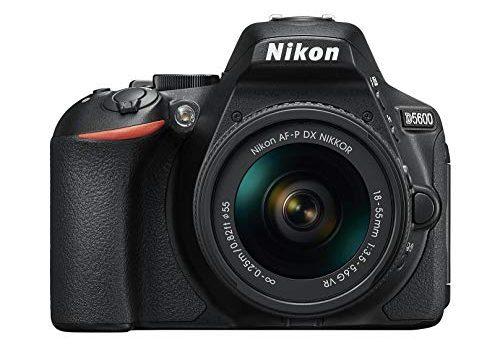 Nikon D5600 Kit AF-P DX 18-55 VR Spiegelreflexkamera 8,1 cm 3,2 Zoll, 24,2 Megapixel schwarz