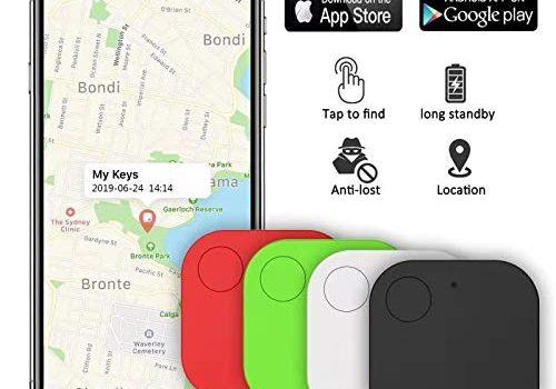 Kimfly Key Finder mit Bluetooth Tracker|Schlüsselfinder Anti-Lost Tracker|Wallet Telefonschlüssel Alarm Reminder für Telefon Haustiere Schlüsselbund Brieftasche Gepäck4pcs