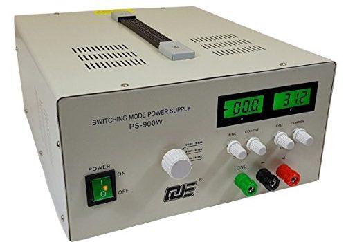 Komerci Regelbares Labornetzgerät Netzteil Stromversorgung PS900W mit 3 Betriebsmodi 15V/60A, 30V/30A oder 60V/15A Grau