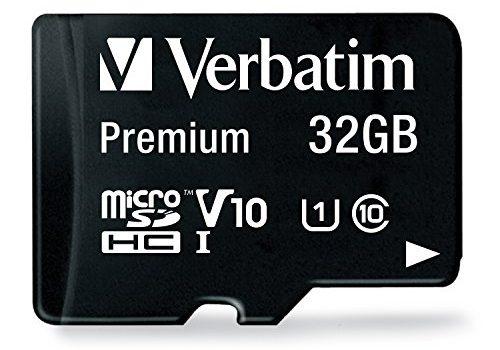 32 GB – inkl. Adapter, Class 10, bis zu 90 MB/s Lesegeschwindigkeit, wasserfest und schockresistent, 44083 – Verbatim Premium microSDHC Speicherkarte