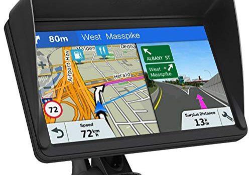 GPS Navi Navigationsgeräte für Auto, Navigation für Auto LKW PKW Touchscreen 7 Zoll 8G 256M Sprachführung Blitzerwarnung mit POI,2019 Europa UK 48 Kartenkostenloses Karte-Update