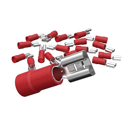 Top 2 Flachsteckhülsen Rot – Einbauzubehör für Fahrzeugelektronik